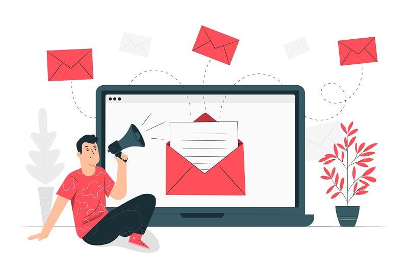 frequenza invio email